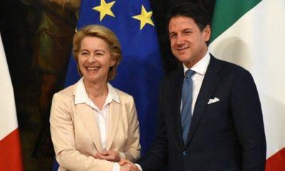 """Von der Leyen: """"L'Italia riceve 10 miliardi da Sure, l'Europa è con voi"""""""