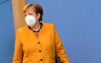 Conferenza stampa del 2 Novembre, Angela Merkel annuncia che la Germania va in lockdow parziale.